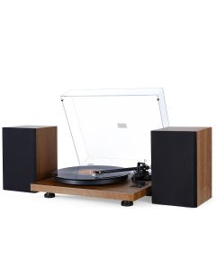 Bluetooth Turntable Hi-Fi System with 36 Watt Bookshelf Speakers