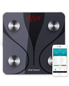 ZOETOUCH Bluetooth Body Fat Scale with iOS and Android App