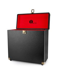 1byone Vinyl Record Storage Case for 30 Albums-Black