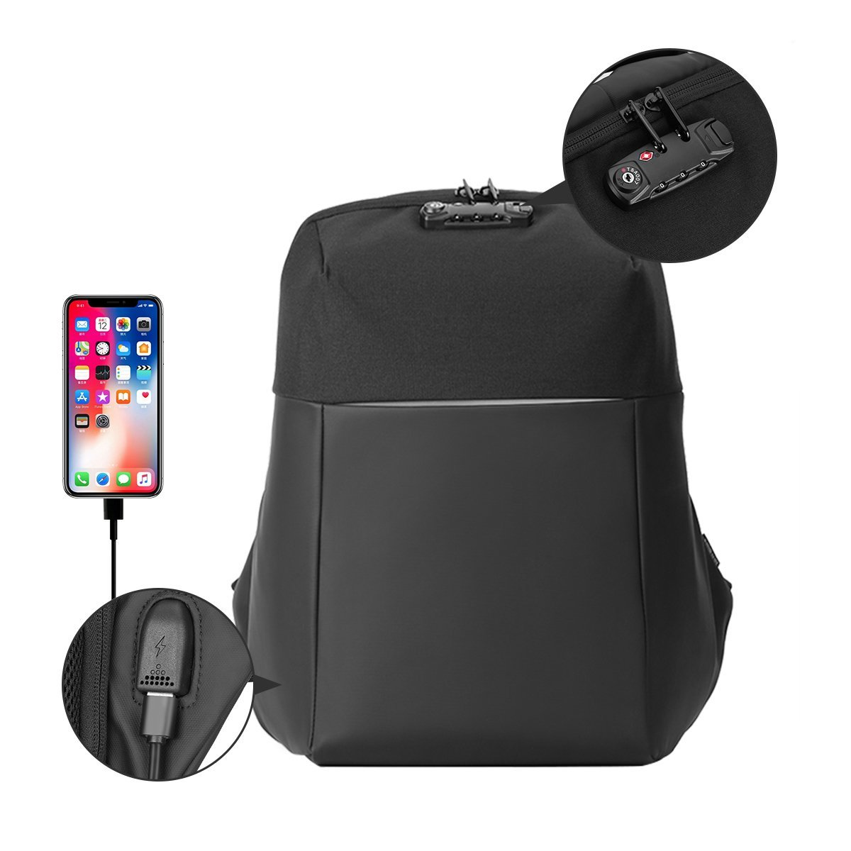 Waterproof bag| shockproof case| laptop| anti theft| protect| security| bag| stylish| sporty