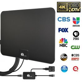 Freeview Local Channels Broadcast for All Type Television 80 Miles Range and 16 ft Cable for VHF//UHf//FM 2018 Version Indoor HDTV Antenna with NEWSET Amplifier Signal Booster Two Face TV Antenna